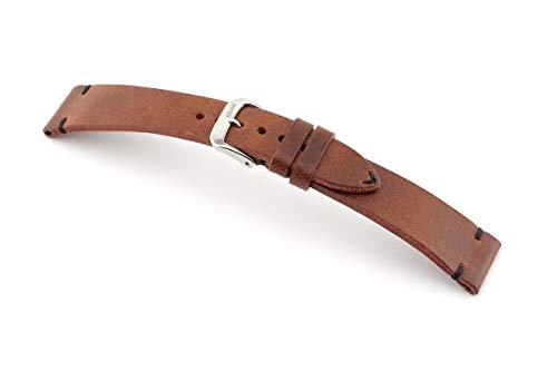 RIOS1931 Herren Uhrenarmband Walker Mod. 158 Echt Vintageleder Breite 19 mm Länge 114/82 mm Farbe Mahagoni