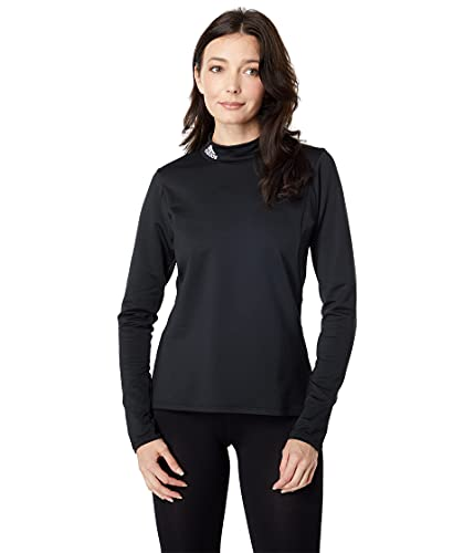 adidas Golf Women's Standard Sport Performance Primegreen Cold.RDY Long Sleeve Mock, Black, M