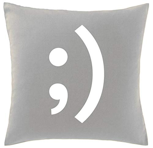 Hippowarehouse Winky face Printed bedroom accessory cushion cover case 41x41cm