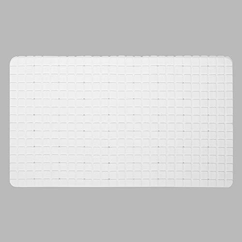 Antislip badkamer tapijt badmat, zachte en gemakkelijk schoon te maken badkamer keukenmat (68 * 38 cm),White