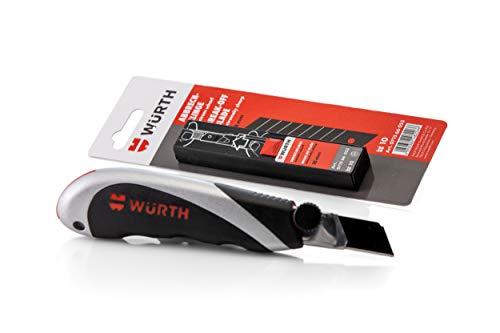 Würth Profi 3K-Cutter-Messer und 10 zusätzlichen Abbrechklingen