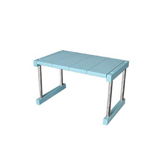 DIAOSI Keuken opbergrek huishoudelijke gelaagde kruidenrek rack kan worden gestapeld Desktop rack PP + roestvrij staal product grootte: 41 * 26 * 24cm