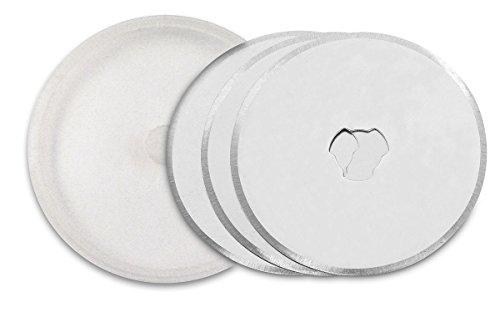 3 Claveles Set de 3 Cuchillas para cúter rotativo, Acero, Gris, 14.58x6.58x0.58000000000000007 cm