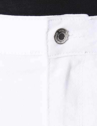 Vero Moda VMHOT Seven MR S Skirt DNM Mix GA Noos Falda, Blanco Brillante, M para Mujer