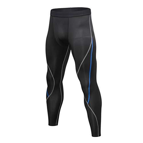 TN-KENSLY Pantalones Hombres Stretcht compresión del Basculador Gimnasio Deportes Mallas para Correr Fitness Elastic Marathon Secado rápido Pantalones L M