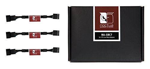 Noctua NA-SRC7, Cavi Adattatori a Basso Rumore LNA da 4 Pin per Ventole per PC (Nero)
