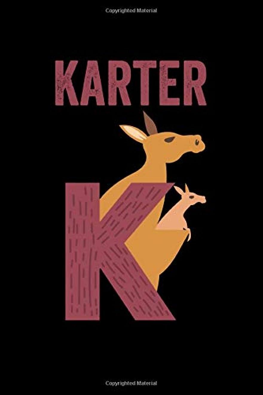 投げ捨てる例示する医薬品Karter: Journal (Diary, Notebook) Personalized Custom Name Alphabet Kangaroo Birthday Gift for Girls