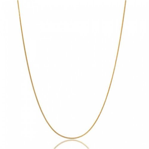 Thin Snake Link Chain 1.5 MM 025 Gauge For Women Necklace 14K Gold Plated 925 Sterling Silver Made In Italy 20 Inch