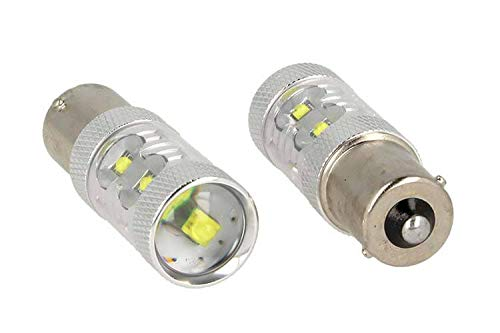 CARALL LS8050 Lot de 2 ampoules LED BA15S 1156 P21 W 50 W 12 V et 24 V Canbus