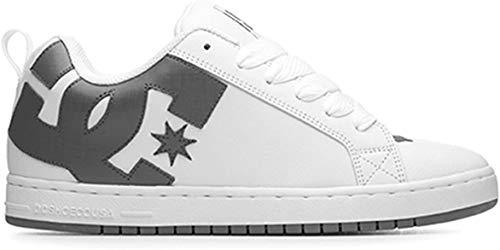 DC Shoes Court Graffik Shoe, Sneaker Uomo, Bianco (White/White/Battleship), 52 EU