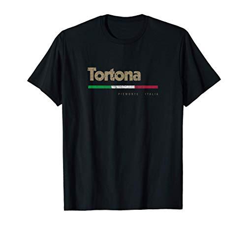 Tortona Città Italiana Retrò Bandiera Italia Maglietta