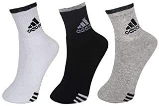 RNT Men's Cotton Ankle Length Socks Multicolour_Free Size Pack of 3