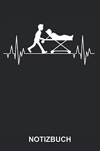 Notizbuch: Rettungsassistent Rettungssanitäter Sanitäter Sanitätsdienst Rettungsdienst Beruf Job Krankentransport Mediziner Medizin Herzschlag | ... | ca. A5 mit Linien | 120 Seiten liniert