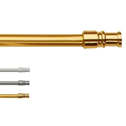 Cafehausstangen Gardinenstange von 50 bis 225cm Breite, ausziehbar, für zb. Bistrogardinen, Auswahl: Gold - Messing, 125-225 cm