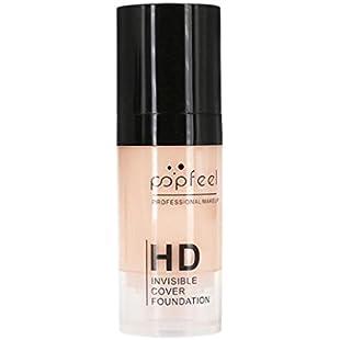 Xshuai® POPFEEL Face Makeup Moisturizing Liquid Foundation Tulle Foundation Waterproof Concealer BB Cream for women girls (02#):Amedama
