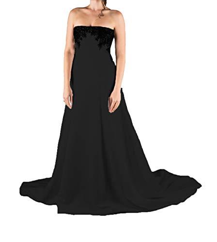 P.L.X Frauen Lange Spitze Mehrfarbig Gothic Hochzeitskleider Vintage Party Brautkleider