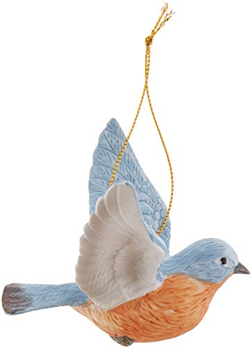 Cosmos Gifts B9023 Ceramic Bluebird Ornament, 3-1/2-Inch