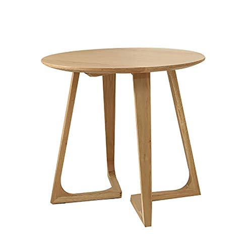 The Side Table, Mini Oak Coffee Table Round Table, Strong Bearing Capacity, Easy To Assemble, Can Be Used for Living Room And Bedroom Balcony