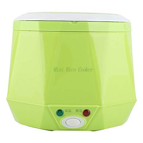 Mini vaporizador de olla de arroz, 24V 140W 1.6 L Eléctrico portátil multifuncional Camión de coche Olla arrocera Calentador de comida Almuerzo más caliente para oficina Escuela al aire libre(Verde)