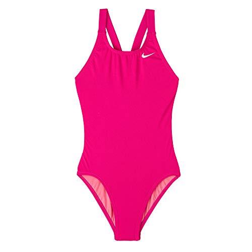 Nike Mädchen Essential One Piece Einteiler Badeanzug (Villian Red, M)