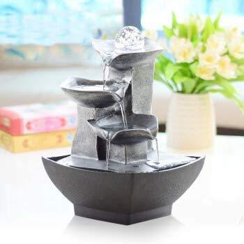 Feng Shui Rad Ornamente Wasser Brunnen Einfache Moderne Handwerk Hauptdekorationen Wohnzimmer Studie Balkon Büro Desktop Kreative Kristallkugel Kleine Wasser Luftbefeuchter