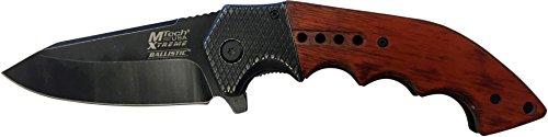 MTECH USA Xtreme Couteau de Poche Brown Pakkawood Poignée avec Texture Renforcer, Stone Wash Taille dans couler cm : 13,335, mtec de 1089