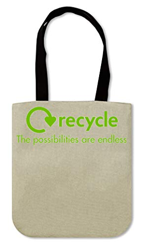 ShutUp Recycle the possibilities are endless Canvas Einkaufstasche