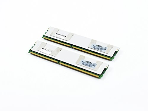 HP 16GB 2X 8GB PC2-5300 DDR2-667 2Rx4 ECC Fully Buffered FBDIMM Memory Kit (HP PN# 413015-B21)