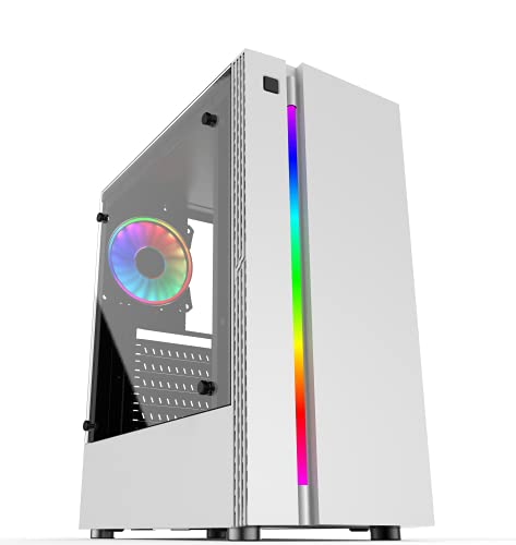 PC Gaming Computer Fisso Desktop Intel Quad Core 3.0 GHZ - WINDOWS 11 PRO - 8GB RAM - 240GB SSD - WiFi USB - HDMI e VGA - Wireless - Ufficio Internet Scuola