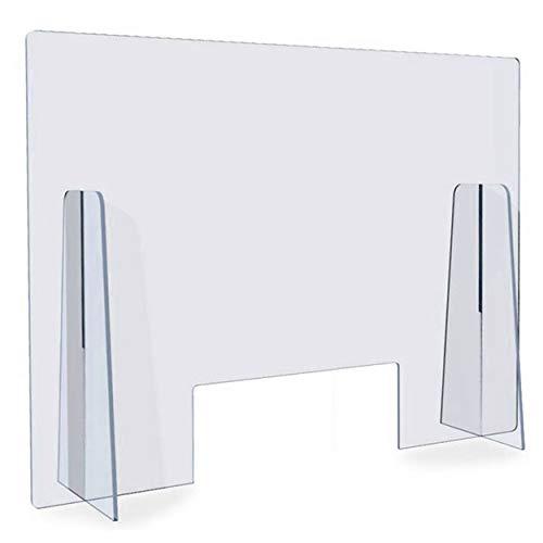 Plexiglass Da Banco Pannelli Divisori Per Interni 4 Mm Su Misura In Policarbonato Trasparente E Plexiglass Trasparente Resistente Parafiato Plexiglass Con Apertura Per Documenti (Policarbonato, 60x75)