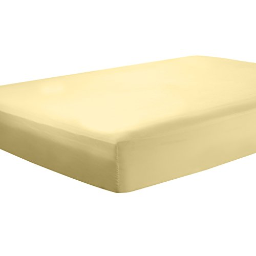 """Clara Clark Premier 1800 Deep Pocket Fitted Sheet, Fits up to 16"""" depth - Double Brushed Microfiber."""