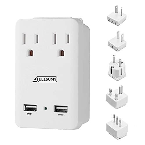 AULLSUMY 2000W Worldwide Travel Adapter Kit-Universal Electrical...