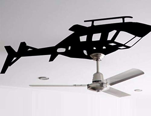 Helicopter Ceiling Fan Decal ~ Fan or Light Accent ~ Wall Decal, 18' x 38'