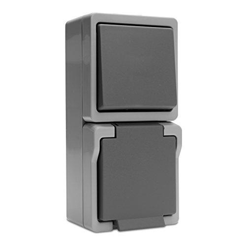 System 9365 Kombination Universalsch./Steckdose Grau von Presto Vedder (93206)