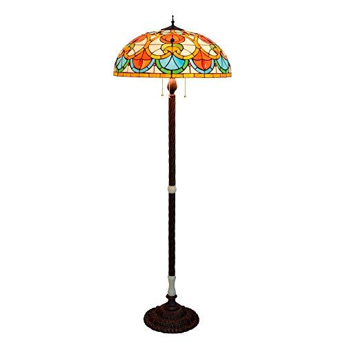 Villa Lobby Hotel St Antieke leeslampen, slaapkamer, woonkamer, 60 cm, grote woonkamer, eetkamer, staande lamp, bar, Amerikaans Tiffany, glasschilderwerk, jade, verticale lampen en lantaarns, klassieke lamp