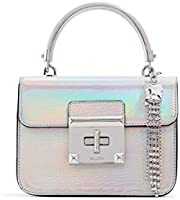 Aldo Top Handle Bag for Women - Silver - 15768297