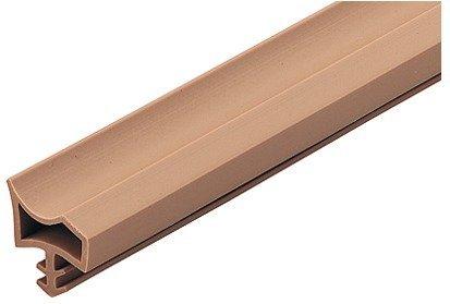 GedoTec®, deurafdichting, deurafdichting, kamerdeur, M 3967, voor houten kozijnen, afdichting voor deurkozijnen beige, breedte vouwbreedte: 12 mm, kunststof zacht PVC, bouwbeslag 25 Meter - weiß Kunststoff Weiß