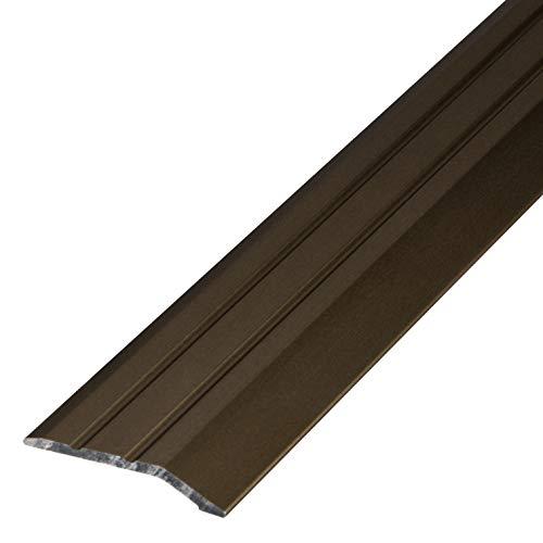 Perfil de transición de aluminio Gedotec autoadhesivo, perfil de terminación de aluminio, barra de suelo de compensación de altura, perfil de compensación de plata anodizada