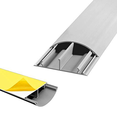 Fussboden TV Kabelkanal Kabelbrucke selbstklebend 1 m grau 50 x 12 mm Wand Boden Fusboden halbrund rund ARLI 1 Stuck