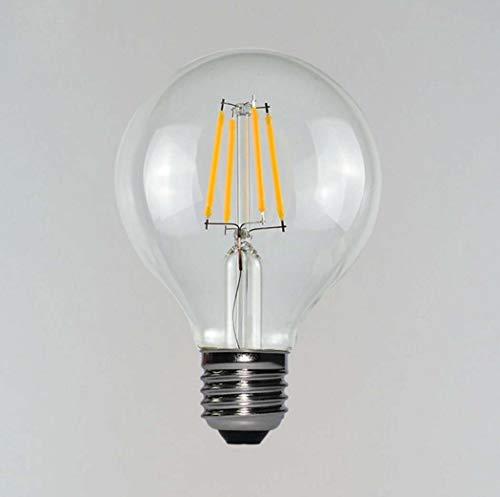 Yjmgrowing LED-lampen, 3 W, 2700 K, warm wit, voor plafondlampen, glazen afdekking, E26/E27, 1 verpakking, 5 verpakkingen (80 x 118 mm)