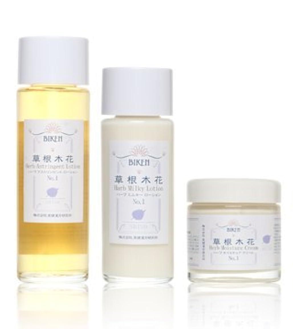 棚プログラムなので美健漢方研究所 紫蘇エキス漢方 化粧水 乳液 クリーム 3点セット 乾燥肌?敏感肌用