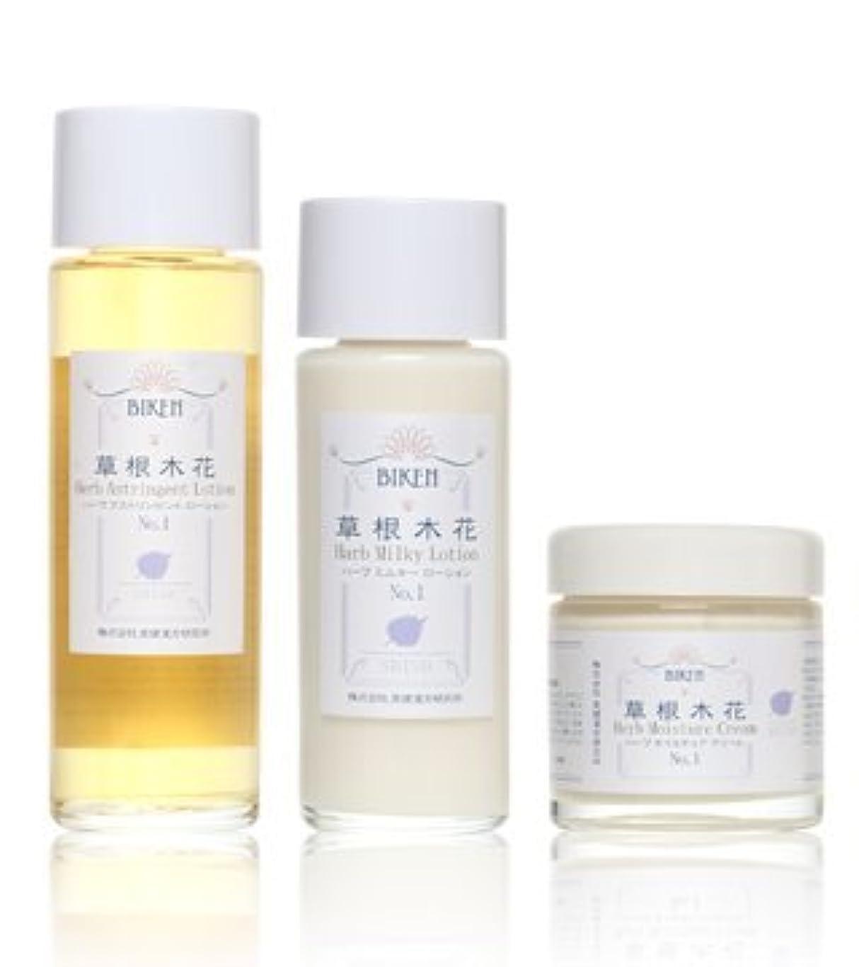大西洋同種の生産性美健漢方研究所 紫蘇エキス漢方 化粧水 乳液 クリーム 3点セット 乾燥肌?敏感肌用