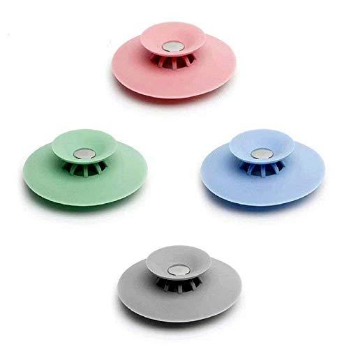 HINTER Abfluss-Stopper für Waschbecken, Badewanne, Dusche, Abfluss, Haarfänger, Badewannen-Schutz, zufällige Farbe, 4 Stück