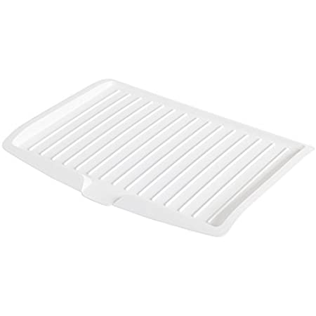 Changsin Kitchen Utility Draining Board Light Weight, Space Efficient, Water Drain (White)