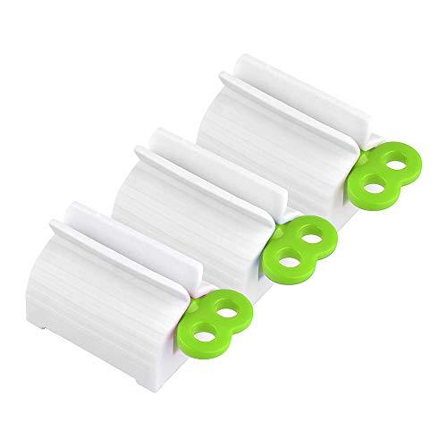 Zahnpasta Squeezer,3 Pack Rollen Tube Zahnpasta Quetscher Drehen Zahnpastaspender Tubenquetscher aus Kunststoff für das Badezimmer zur Verwendung mit Zahnpastahandcreme Grün