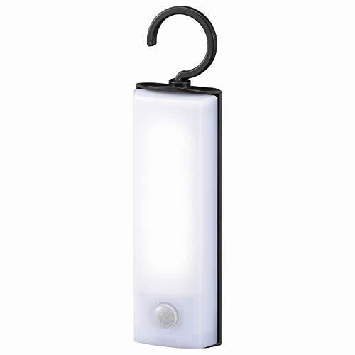 オーム電機 LEDセンサーライト 乾電池式 フック型|LS-B60JF-4 昼白色 (約)幅50×高さ188×奥行30mm