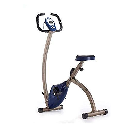 Plegable Bicicleta estática con el LCD Monitor de Ritmo y cojín de Asiento cómodo for el hogar Cardio Workout