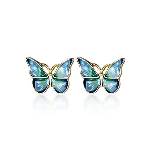 DJDEFK Aretes 925 Sterling Silver Fashion Insect Ear Studs Fine Jewelry Bijoux Pendientes de Aro