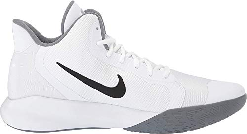 Nike Herren Precision Iii Basketballschuhe, Weiß (White/Black 000), 42 EU(7.5UK)