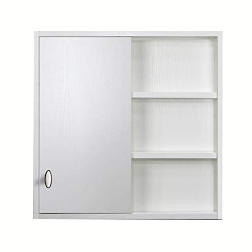 HIZLJJ Bathroom Cabinet Wall-Mounted Storage Organization,Wooden Adjustable Shelf Medicine Cabinet Wooden Mirror Box Bathroom Locker Mirror with Shelf (Size : S)